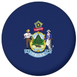 Maine State Flag 58mm Mirror Keyring